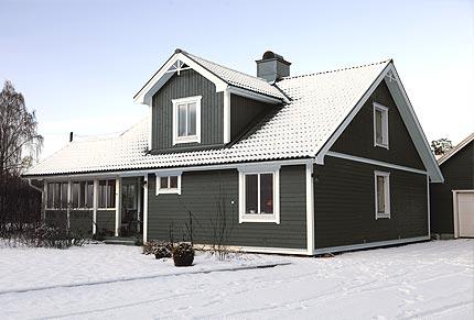 Villa & garage – liggande panel